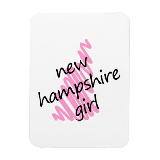 New Hampshire Girl with Scribbled New Hampshire Ma Rectangular Photo Magnet