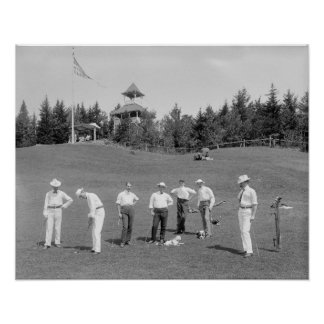 New Hampshire Golfers, 1910. Vintage Photo Poster