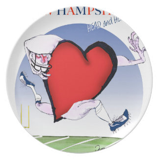 new hampshire head heart, tony fernandes melamine plate