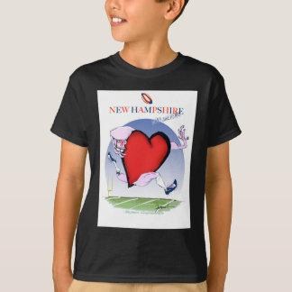 new hampshire head heart, tony fernandes T-Shirt