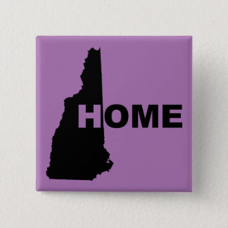 New Hampshire Home Away From State Button Badge