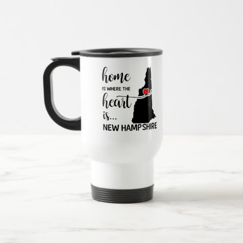 New Hampshire home is where the heart is Travel Mug