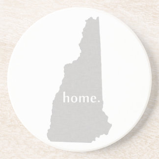 New Hampshire home silhouette state map Drink Coaster