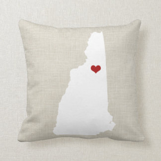 "New Hampshire Home State Pillow 16"" x 16"""