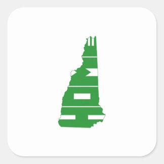New Hampshire Home State Square Sticker