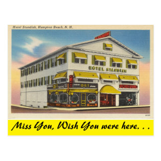 New Hampshire, Hotel Standish, Hampton Beach Postcard