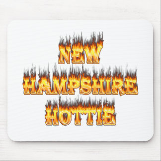 New hampshire hottie fire and flames mouse pad