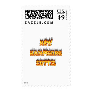 New hampshire hottie fire and flames postage stamp
