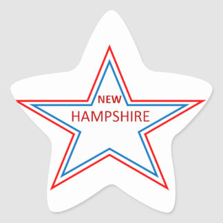 New Hampshire in a star Stickers