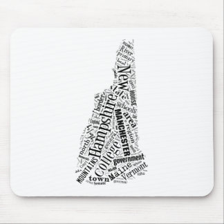 New Hampshire in Tagxedo Mouse Pad