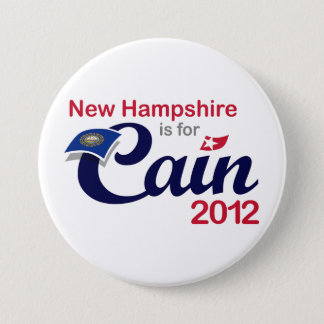 New Hampshire is for Cain! Button - Cain 2012