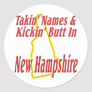 New Hampshire - Kickin' Butt Classic Round Sticker
