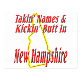 New Hampshire - Kickin' Butt Postcard