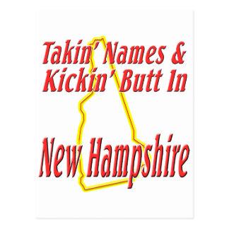 New Hampshire - Kickin' Butt Postcard