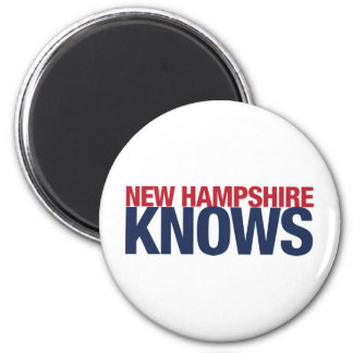 New Hampshire Knows 2 Inch Round Magnet