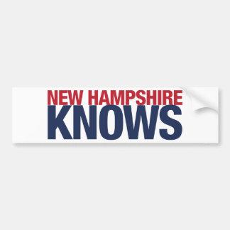New Hampshire Knows Bumper Sticker