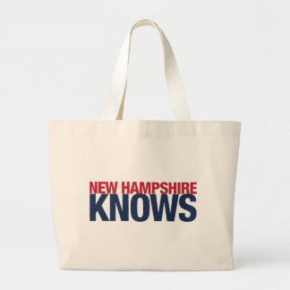 New Hampshire Knows Large Tote Bag