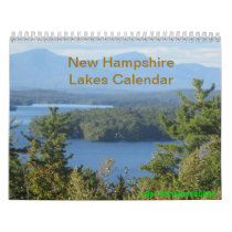 New Hampshire Lakes Vacation Photography Calendar