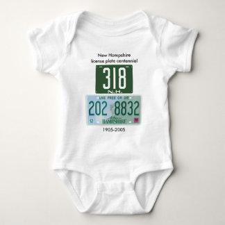 New Hampshire license plate centennial Baby Bodysuit