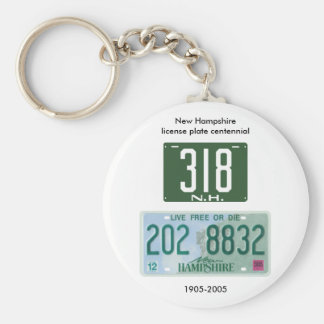New Hampshire license plate centennial Keychains