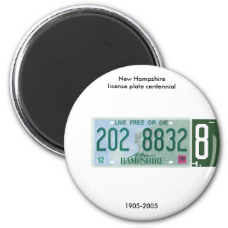 New Hampshire license plate centennial Magnet