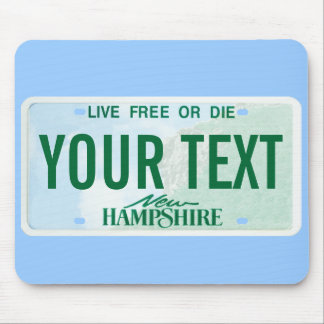 New Hampshire license plate mouse pad
