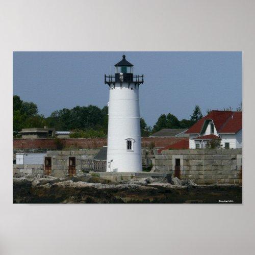 New Hampshire Lighthouse Poster zazzle_print