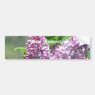 New Hampshire Lilacs Bumper Sticker