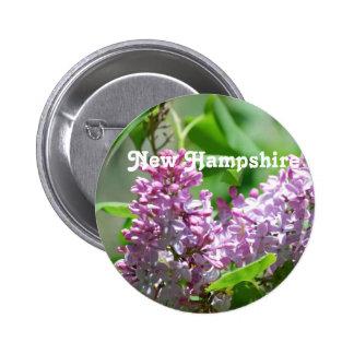 New Hampshire Lilacs Pinback Button