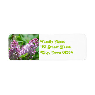 New Hampshire Lilacs Return Address Label