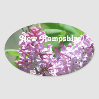 New Hampshire Lilacs Oval Stickers