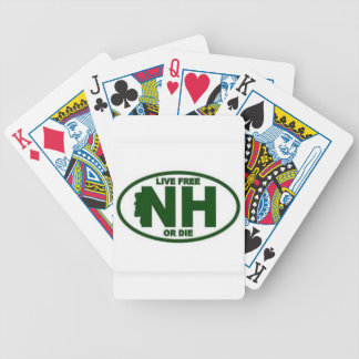New Hampshire Live Fee or Die Bicycle Playing Cards