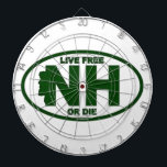 "New Hampshire Live Fee or Die Dart Board<br><div class=""desc"">If you are proud of your granite roots than let them know with this great product.</div>"