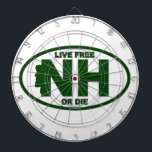 """New Hampshire Live Fee or Die Dart Board<br><div class=""""desc"""">If you are proud of your granite roots than let them know with this great product.</div>"""