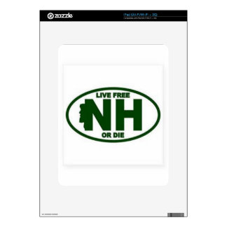 New Hampshire Live Fee or Die iPad Decals
