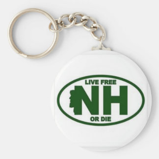 New Hampshire Live Fee or Die Keychain