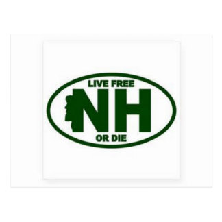New Hampshire Live Fee or Die Postcard