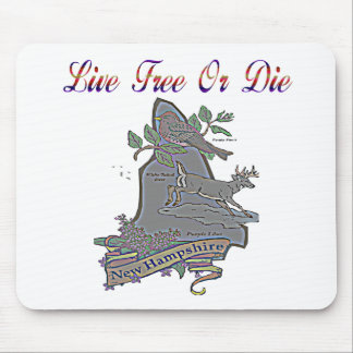 New Hampshire Live Free Or Die State Mouse Pad