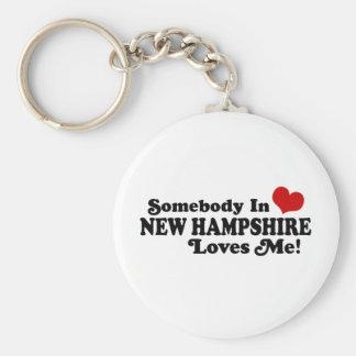 New Hampshire Llavero Redondo Tipo Pin