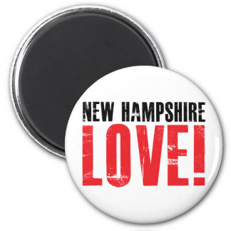 New Hampshire Love 2 Inch Round Magnet