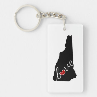 New Hampshire Love!  Gifts for NH Lovers Keychain