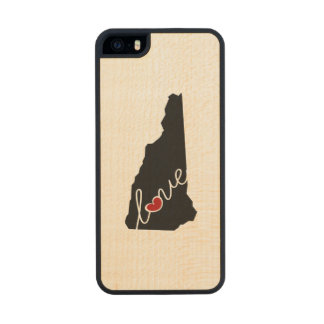 New Hampshire Love!  Gifts for NH Lovers Wood Phone Case For iPhone SE/5/5s