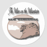 New Hampshire Man On The Mountain Sticker