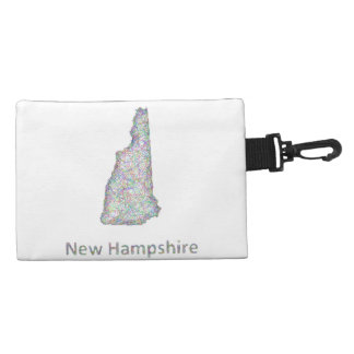 New Hampshire map Accessory Bags