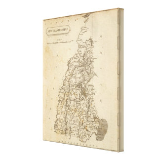 New Hampshire Map by Arrowsmith Canvas Print