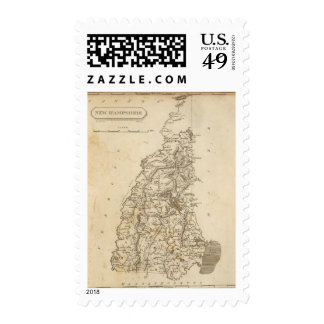 New Hampshire Map by Arrowsmith Stamp