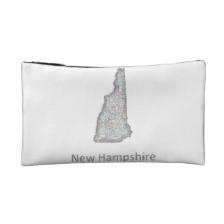 New Hampshire map Cosmetic Bag