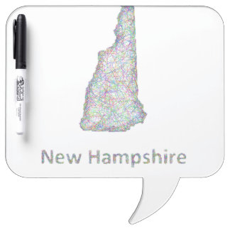 New Hampshire map Dry-Erase Board