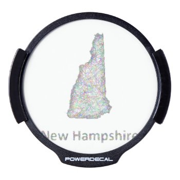New Hampshire Map Led Window Decal by ZYDDesign at Zazzle