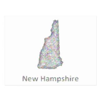 New Hampshire map Postcard
